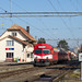 Alle | CH-JU (Jura) | 14.01.2018 | CJ-ABt 921 + RBDe 566 221 as train R 26447 Bonfol - Porrentruy in Alle station