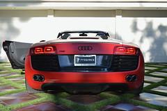 red audi rental r8 convertibe (Exotic & Luxury Cars) Tags: audir8 r8 audi red sportscar exoticcar 777exotics exotic rental car luxury supercar 2900srobertsonblvd