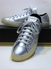 Metallic Iced - Pure Silver & White Ox 153108C (hadley78) Tags: chucks converse cons collection ct chucktaylors chuck taylor taylors tops top thatconverseguy guinness worldrecord world record ripleys joshuamueller joshua mueller metallic iced