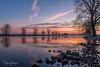 Freezing cold sunrise @ Maas, Grave (Henk Verheyen) Tags: grave maas nl nederland netherlands blauw cold frost koud nevel oranje rivier rood vriezen noordbrabant sunrise