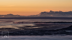 Fire Island Sunset (fentonphotography) Tags: alaska flattop hdr sunset anchorage unitedstates us fireisland landscape water cookinlet mountains winter