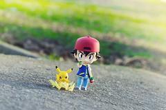 (Elffline) Tags: pokemon nendoroid satoshi chibi cute kawaii pikachu adorable japan nintendo game