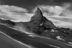 Matterhorn | Zermatt, Switzerland (v on life) Tags: matterhorn switzerland zermatt blackandwhite monochrome snow winter mountain peak clouds light sunlight