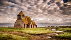 The clouds rolling in! (Nathan J Hammonds) Tags: clouds hdr nikond750 filter nd romney marshes uk england kent thomas becket church moody grass fields water