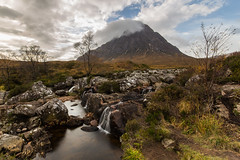 Etive Mor Waterfall (Tim&Elisa) Tags: scotland highlands canon landscape nature waterfall mountains sky clouds sun water longexposure glencoe etivemor etivemorwaterfall