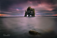 Dragon on the sea (dochema2000) Tags: ifttt 500px rock formations sunset iceland seascapes long exposure clouds summer