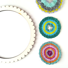 Woven Coasters (hine) Tags: weaving woven coaster yarn circularweaving handmade hinemizushima craft