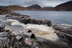 Allt Crunachgan waterfall into Loch Treig (John1986scotland) Tags: scotland highlands ossian fuji xt20 winter loch treig waterfall samyang 12mm