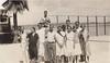 Page 76, no. 2: Tennis court group (InstaDerek) Tags: 1920s monochrome balboaisland newportbeach orangecounty california richardson tenniscourt harbor teens teenagers boys girls damagedphoto