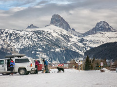 dogs allowed on teton x-country (maryannenelson) Tags: wyoming tetons tetoncanyon landscape clouds sky winter snow