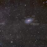 Galaxia del Triángulo y Cirros galácticos (versión anotada) thumbnail