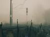 railway and fogg (Darek Drapala) Tags: fogg focus bokeh railway rail railroad mystery mystic panasonic poland polska panasonicg5 warsaw warszawa lumix light industrial silhouette