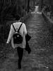 Walk (fransaan) Tags: black white bw walk park retiro madrid girl dark outfit nikon d3200