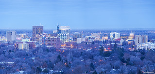 Boise Skyline Winter Panorama