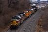 "Northbound Empty Coal Train in Kansas City, MO (""Righteous"" Grant G.) Tags: dlw delaware lackawanna western heritage unit ns norfolk southern bnsf crex citirail ge emd power kansas city missouri empty coal"