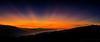 Rays of Hope (philipleemiller) Tags: landscape sunset d800 california crespuscularrays silhouettedhills fog oaktrees gigpanpanorama