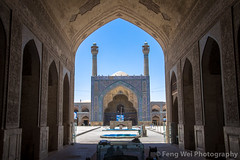 Jameh Mosque, Isfahan, Iran (Feng Wei Photography) Tags: islamicculture persianculture middleeast isfahan art courtyard landmark colorimage unescoworldheritagesite iranianculture builtstructure islamic islam unesco famousplace tranquilscene iran travel tourism minaret outdoors architecture mosque horizontal persian traveldestinations irn jamehmosque