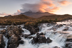 Sligachan Waterfall at Sunset (JamesPicture) Tags: isleofskye scotland sligachan unitedkingdom gb kase