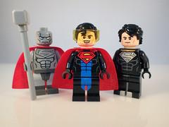 Lego Reign of Supermen (Alien Hand) Tags: lego minifigures dc superman reign steel eradicator solar suit pad print cyclops bricks ra