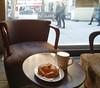 Lunch break (michael_hamburg69) Tags: hamburg deutschland de germany croissant coffee kaffee balzac pause lunch break lonely allein sessel window shopwindow watchingtheworldpassingby