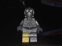 LEGO U-3PO with Golden Leg (splinky9000) Tags: lego star wars minifigures custom toys starwars u3po droid golden legs