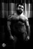 Jordan (Levi Smith Photography) Tags: nude shower muscle hairy shadow contrast bear curtain tattoo tattoos abs legs face beard gay man men mens chest bicep biceps hot cute guy fashion pierced nipples nipple body builder