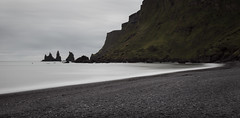 Smoothing Edges (blum99) Tags: iceland vik myrdal reynisdrangar reynisfjara black sand beach le longexposure basalt sea stack canonef24105mmf4lisusm canon6d lee filter bigstopper
