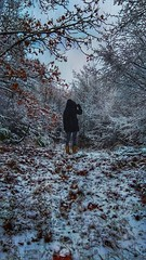 are you trying to get lost , or get found ? (M Lamprinos) Tags: greece fyteia fytia imathia macedonia snow snowy snowing forest trees oak path lost winter girl cold white hiking wandering outdoors nature