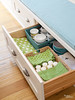 Organized Bench Drawer (Heath & the B.L.T. boys) Tags: organize bench basket storage napkin candle drawers
