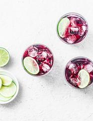 cold hibiscus tea... (sonja-ksu) Tags: food drinks tea hibiscus lime summer foodphotography