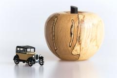 Austin and apple (hehaden) Tags: car vintage model austin austinseven oxford diecast apple wood whitebackground