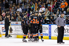 """Kansas City Mavericks vs. Florida Everblades, February 18, 2018, Silverstein Eye Centers Arena, Independence, Missouri.  Photo: © John Howe / Howe Creative Photography, all rights reserved 2018 • <a style=""""font-size:0.8em;"""" href=""""http://www.flickr.com/photos/134016632@N02/39676853704/"""" target=""""_blank"""">View on Flickr</a>"""