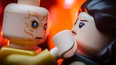 """Now you will give me Skywalker."" (Alan Rappa) Tags: afol lego legobricks legophotography minifigs minifigures moc rey snoke starwars thelastjedi tweetme"