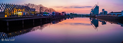 Panorama Handelskade Zuid (RWFOTO.NL) Tags: 18mm fujix70 renewolffotografie x70 rwfotonl wwwrwfotonl enschede haven panorama sunset