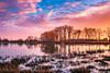 Burgundy Sunset (Thos A.) Tags: pond lake sky fire water trees swamp clouds sunset étang lac eau arbres coucherdesoleil couleur colors feu nuages ciel canon eos80d sigma bourgogne nièvre burgundy
