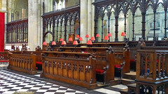 Red lamps.... (♥ Annieta  home and catching up) Tags: annieta juli 2017 sony a6000 holiday vakantie england scotland uk greatbritain bridlington kerk church eglise chiesa interieur exterieur interior exterior allrightsreserved usingthispicturewithoutpermissionisillegal