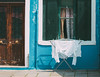 Washing (V Photography and Art) Tags: washing whitewashing washingline outdoors door window old burano italy venice colour vsco shutters wall facade texture laundry drying