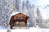 Verbier IMG_9432 (Nickvbw) Tags: 2018 verbier zwitserland februari wood house winter dhiver chalet wallis valais snow snee neige tree bomen nicvbw sky bluesky swiss switzerland
