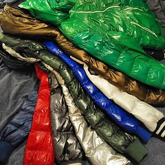 Top Collection of Shiny Jackets (shiny_jackets) Tags: carsjeans duvetica rivaldi downjacket ret blue green