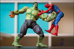 This is what happens when you try to steal Hulk's Irn-Bru! (Pikebubbles) Tags: davidgilliver davidgilliverphotography spiderman hulk incrediblehulk marvel irnbru agbarr toys toy toyart tiny plastic miniature miniatures miniatureweekly miniatureart miniart creative creativephotography fineartphotography figurine figurines play imagination macro canon