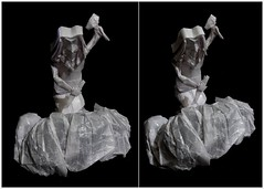 ORIGAMI - The Sculptor (1/?) (Neelesh K) Tags: origami sculptor hammer chisel neeleshk paperfolding tracing boxpleating