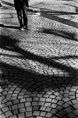 soleil d'hiver (hugobny) Tags: ilford p30 pentax pan 400 iso pentaxp30 pentaxlens smc f18 55mm caffenol cl strasbourg street semistand argentique analogue analog analogique