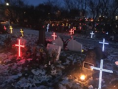 Christmas at the cemetery in Iceland (The Paper Thieves) Tags: christmas tombstones graves cemetery iceland
