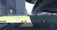 On the overpass (Ricco Saenz) Tags: sl secondlife tokyo japan highway realism