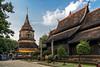 The old chedi complex at Chiangmai Chaiyapoom Road (Anoop Negi) Tags: thailand chiangmai wat chedi chaiyapoom road photo temple religion anoop negi ezee123