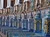 Plaza d'Espana - tiling (TeaMeister) Tags: train europe interrail seat61 travel spain espana seville sevilla andalusia eu europeanunion moorish islamic tiles tiling plazadeespana createyourownstory