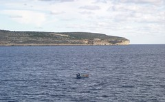 The boatman in the South Comino Channel (Richard Kay2009) Tags: boat boatman comino