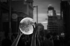 Byn06 (Rafi Moreno) Tags: rafi madrid canon moon luna atardecer photoshop creativo blancoynegro vintage hipster soft pale granvia composición sunset