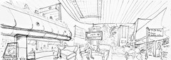 Bengalore, aéroport, attente (Croctoo) Tags: croctoo croctoofr croquis crayon aquarelle watercolor amsterdam bengalore voyage