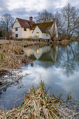 First Light At Willy Lott's. (Andy Bracey -) Tags: willylotts willylottscottage willylottshouse johnconstable constablecountry cittage farmhouse house firstlight firstlightatwillylotts landscape suffolk flatford leefilters morning sunrise reflections winter reeds light windowlight nationaltrust river riverstour thehaywain flatfordmill dedhamvale england
